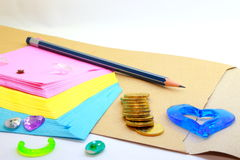 Slippad, Münzen, schlagen ein und lieben Lizenzfreies Stockfoto