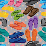 Slipper coloful dot seamless pattern Stock Images