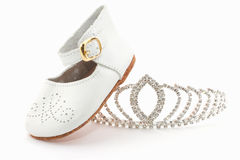 Slipper and crown Royalty Free Stock Photography