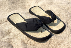Free Slipper On The Beach Royalty Free Stock Images - 9805049