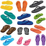 Slipper set colorful Stock Photos
