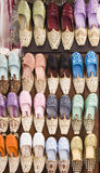 Slipper shop - Dubai, Emirates. Slippers displayed in front of a shop in Dubai - United Arab Emirates Royalty Free Stock Photo