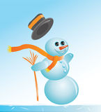 Slipper snowman Stock Photos