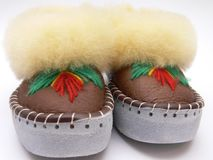Slippers. Home slippers - isolated over white background Royalty Free Stock Photography