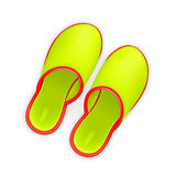 Slippers. Computer illustration on a white background Stock Photos