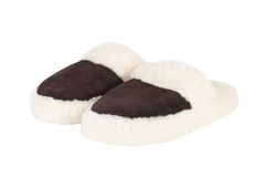 Slippers. Over an white background Stock Image