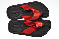 Slippers. Convenient and practical flip-flops Stock Images