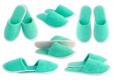 Slippers aquamarine Royalty Free Stock Image