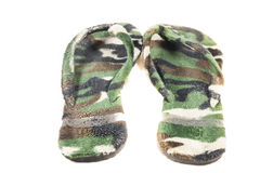 Slippers Camouflage military Stock Image