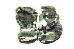 Slippers Camouflage military Stock Images