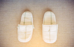 Slippers on the carpet Stock Photography