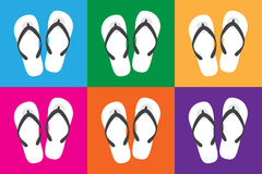 Slippers with colorful colors for holiday, slippers vector Stock Images