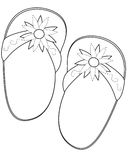 Slippers coloring page. Useful as coloring book for kids Stock Photos