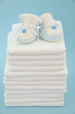 Slippers and Diapers Stock Photo