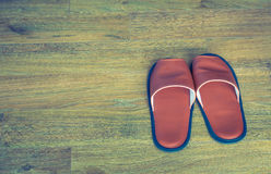 Slippers   ( Filtered image processed vintage effect Stock Images