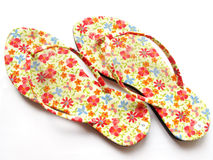 Slippers florals Stock Photos