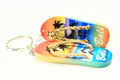 Slippers key chain Royalty Free Stock Photo