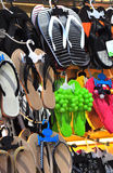 Slippers market Stock Photography