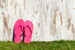 Slippers on the meadow Royalty Free Stock Photo