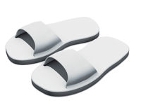 Slippers pool gray Stock Photo