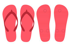 Slippers summer set vector design Royalty Free Stock Photography
