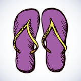Slippers. Vector drawing Royalty Free Stock Photos