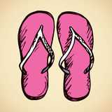 Slippers. Vector drawing Royalty Free Stock Photo