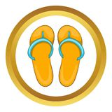 Slippers vector icon Stock Images