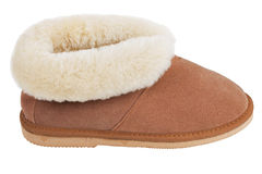 Slippers of wool on the rubber soles Royalty Free Stock Photo