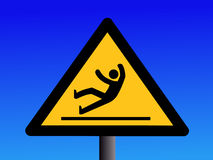 Slippery floor sign Stock Photo