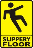 Slippery Floor Sign Royalty Free Stock Images