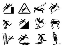 Slippery icons Royalty Free Stock Photography