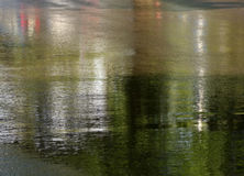 Slippery road after rain. Royalty Free Stock Photography