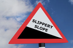 Slippery Slope concept Royalty Free Stock Image