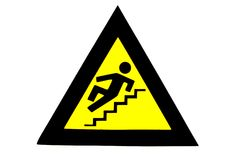 Slippery Steps. Royalty Free Stock Photography