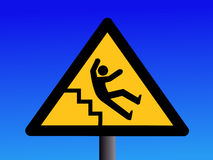 Slippery steps sign Stock Photos