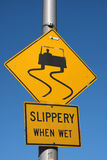 Slippery when wet Royalty Free Stock Images