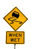 Slippery when wet Royalty Free Stock Image
