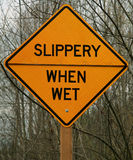 Slippery when wet Royalty Free Stock Photography