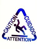 Caution. Slippery When Wet Stock Photos