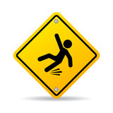 Slippery wet floor warning sign Royalty Free Stock Image