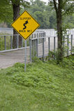 `Slippery When Wet` Sign Stock Photo