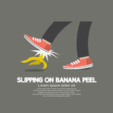 Slipping On Banana Peel. Stock Image