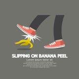 Slipping On Banana Peel. Stock Image