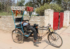 Slipping riksha Stock Images