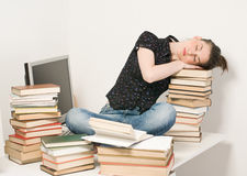 Slipping student Stock Photography