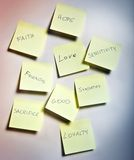Slips of paper. With emotions Royalty Free Stock Image