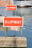 Slipway sign Stock Images