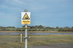 Slipway sign for boats and jet ski stock images