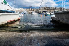 The Slipway to the Grand Harbour Royalty Free Stock Photo